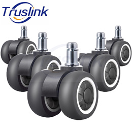 5Pcs Office Chair Casters Wheels 2 inch TPR Double Wheel Universal Rubber Replacement Quiet Rolling