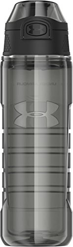 Under Armour Beyond 18 oz Double Walled Tritan Hydration Bottle with Push Button Top, Blue Jet