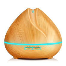400ml Aroma Essential Oil Diffuser Ultrasonic Air Humidifier with Wood Grain 7 Color Changing LED Li