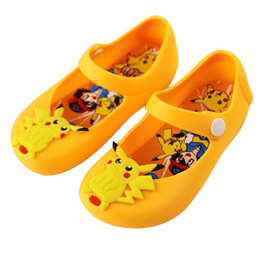 Summer Kids Girls Rubber Jelly Shoes With Cute Pokemon Pikachu