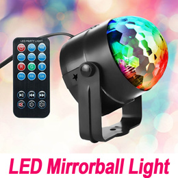 LED 3W RGB Mirrorball★Portable★Remote control/USB/7 Mode Party Camping Outdoor