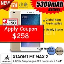 [$258 NETT] 64GB Xiaomi Mi Max 2 with Fingerprint Identification [ Ready Stocks]