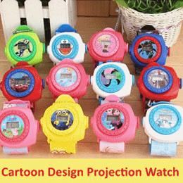 [ Children Day Gift ] Cartoon Projection Watch PJ MASK Minions Paw Patrol Star War Little Pony Goodi