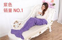 2016 Mermaid Tail Blanket Super Soft Hand Crocheted cartoon Sofa Blanket air-condition blanket siest