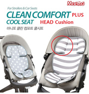 ★MANITO★ CLEAN COMFORT COOL SEAT PLUS/ HEAD CUSHION/ Baby carriage car seat/ 3D MESH