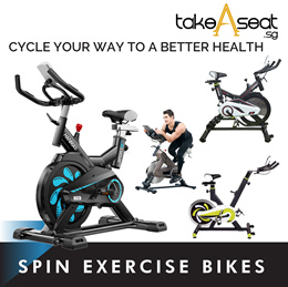SPIN Exercise Bike Fitness Cardio Workout Home Cycling Racing Machine