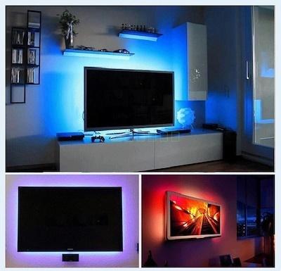 Qoo10 Flexible 50cm 5v Led Strip Light Tv Background Lighting Kit