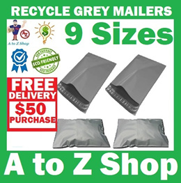 [Cheapest SG]Bulk 100pcs Grey Economy Poly Bags/ Plastic Mailer Shop/ Courier / Postage/Packaging