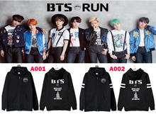 Bulletproof boyhood group clothes BTS Parker Korean style goods BTS wearing supportive clothes Korean star same style costume sweater hip hop HIPHOP sweat outerwear long sleeve trainer Korean idol swe