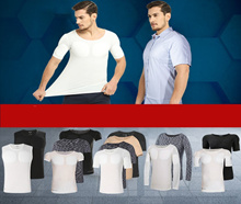 Mens T-Shirts with Fake Muscle Sporty Gym look good inner shirt for office business #PECSACE