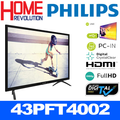 PHILIPS 43PFT4002 Full HD Slim LED TV**3 YEARS WARRANTY BY PHILIPS