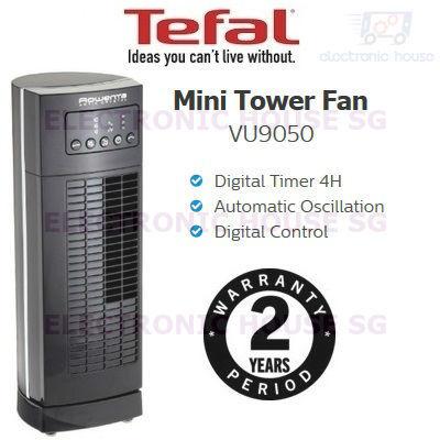 Tefal Vu9050 Mini Tower Fan Crytal Artik 2 Years Warranty