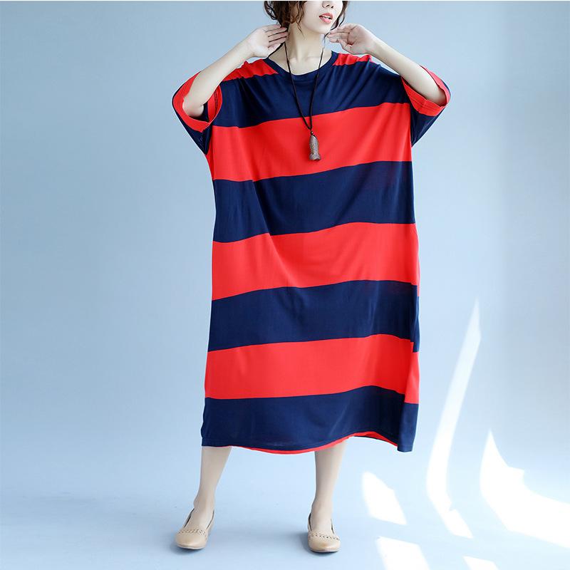 新作  韓国ファッション ワンピース    レディース   ゆったり感  プリント Tシャツ  ワンピース  ミディアム  カジュアル スカート 大人気   着痩/    D7080159