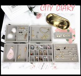 Acrylic Jewelry organizer extra big 2pcs jewelry tray including makeup box organizer stroage box
