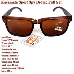 Kacamata Cowok Sunglasses SPY Brown Full set c4a6870266