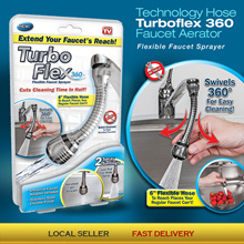 🛫Cheapest In SG🌟 Turboflex 360 Fauchet Aerator Instant Hand Free Swivel Spray Sink Technology Hose
