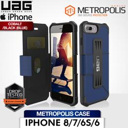 UAG iPhone 8/7/6S/6 Metropolis Case Cobalt/Black (Blue)