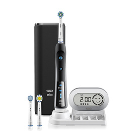 Braun Oral-B 7000 Smart Series Electric Rechargeable Toothbrush with Bluetooth Powered  Black White