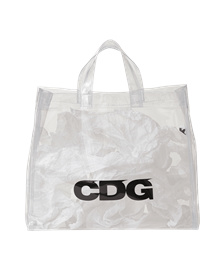 Comme des garcons CDG logo PVC bag