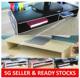 Wooden Monitor Riser Ergonomic Stand / Laptop Stand / Keyboard Storage / Posture Correction