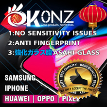 ★Easy Installation★No Sensitivity Issue★Okonz Authentic Premium Focus Brand★ Tempered Glass