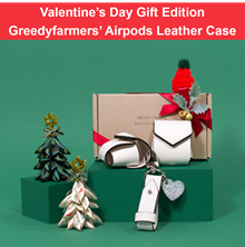 🍭BEST GIFT🍭 GreedyFarmers Airpods Leather Case [19colors] Christmas limited edition