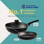 5.5 SALE! [JML Official] Korea no.1 Cookware Frying Pan  | Korea King Titanium + Granite Pan Frypan