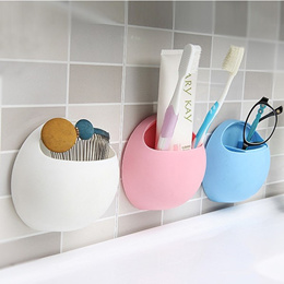 ~Creative couple sucker teeth toothpaste/ toothbrush holder bench racks /Bathroom Storage Rack