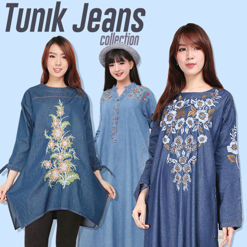 TUNIK JEANS COLLECTION Deals for only Rp59.000 instead of Rp118.000