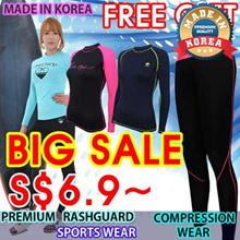 KOREA HIT rashguard suffing Fitness Swimwear women underlayer. compression wear sports wear