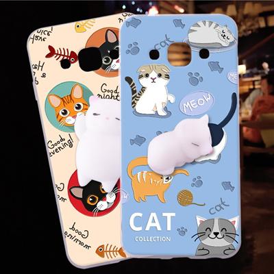official photos 9d9a6 9ffdd samsung galaxy j3 pro phone shell cute cat 3d squishy sleeping kitty  silicone case galaxy j3 2016