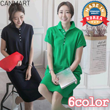 [CANMART] EASY POLO ONE-PIECE /DRESS_C050958