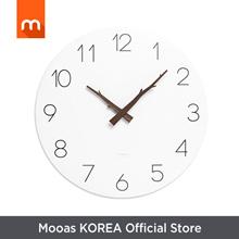 Mooas Flatwood Twig Wall Clock / Wood Wall Clock / Non-ticking Wall Clock / Battery Operated Clock