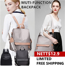 ⭐Limit Free Shipping⭐ Womens Waterproof Backpack/Shoulder Bag/ Multi-function Bag/2 Way Fashion Bag