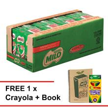 MILO UHT 200ml , Buy 1 carton Free 1 Crayola Colouring set
