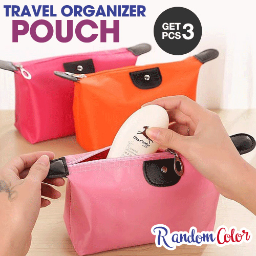 (Get 3 Pcs)Tas Kosmetik Alat Make Up Accesories Travel Organizer Bag Pouch Dompet Deals for only Rp10.000 instead of Rp10.000