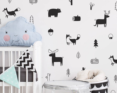 Nordic Style Forest Animal Wall Decals