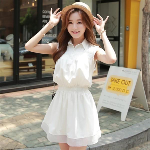 レディースワンピース 韓国無地 スリム 韓国のファッション ノースリーブワンピース  プリントワンピース  学院風 ハイセンス 着心地いい おしゃれ 夏 スリム セール★ レディースワンピース
