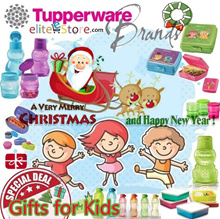 TUPPERWARE CHILDREN XMAS GIFT Bottle Lunch Box Strap Pouch Mug Cup [Random Colours]