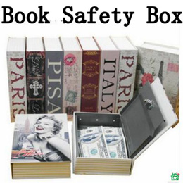 Security Book Safe Key Lock Safety Jewellery Box Secret Novel Dictionary Storage Space*piggy bank