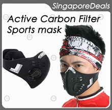 [BZ][Q2] JAKROO Biker Mask Bike Sports Mask with N99 Active Carbon Filter easy breathing technology bicycle