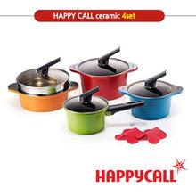 [Happy call] Alumite Ceramic Pot/4pot set/Made in Korea/ happycall pot/ pot set // 1