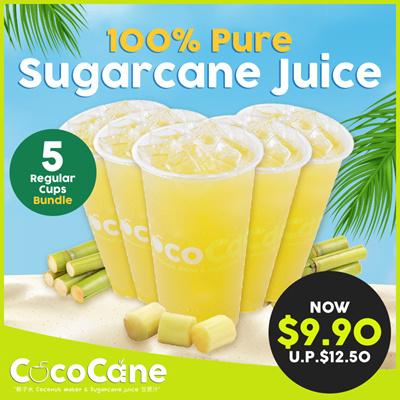 5 x 100% Pure Sugarcane Juice(Regular Size)UP$12.5
