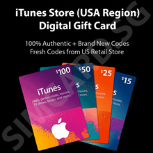 Apple iTunes Store USA Prepaid Digital Gift Card - US iTunes US$10 US$25 US$30 US$50 US$100