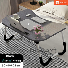 ★Laptop Table Stand★Bed Table★Foldable Wood Desk★Computer Table★Cup Holder★Big size★Non-Slip