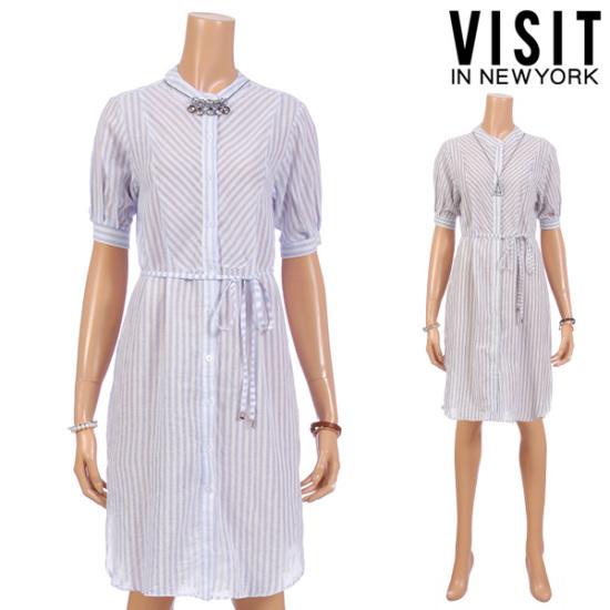 ・ビジット・インニューヨークナチュラル・STシャツ、ロングワンピースVTDOP68 面ワンピース/ 韓国ファッション