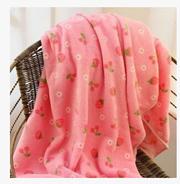 Home Cartoon sleep sheep strawberry coral fleece blanket vehicle air conditioning blanket nap Blanket Baby blankets large sheets