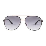 【Focus Point】 Aviator Black Sunglasses GU7460
