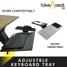 Ergonomic Adjustable Keyboard Tray / Adjustable Platform / Mount Under Desk