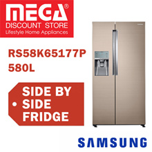 SAMSUNG RS58K65177P 580L SIDE BY SIDE REFRIGERATOR / FRIDGE / FREE GIFT BY AGENT / LOCAL WARRANTY